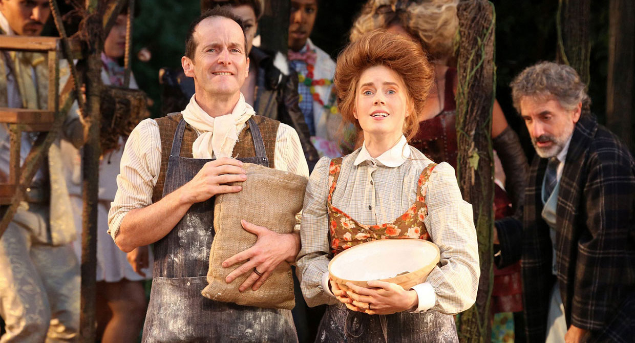 Denis O'Hare and Amy Adams in Into The Woods. Photo Joan Marcus